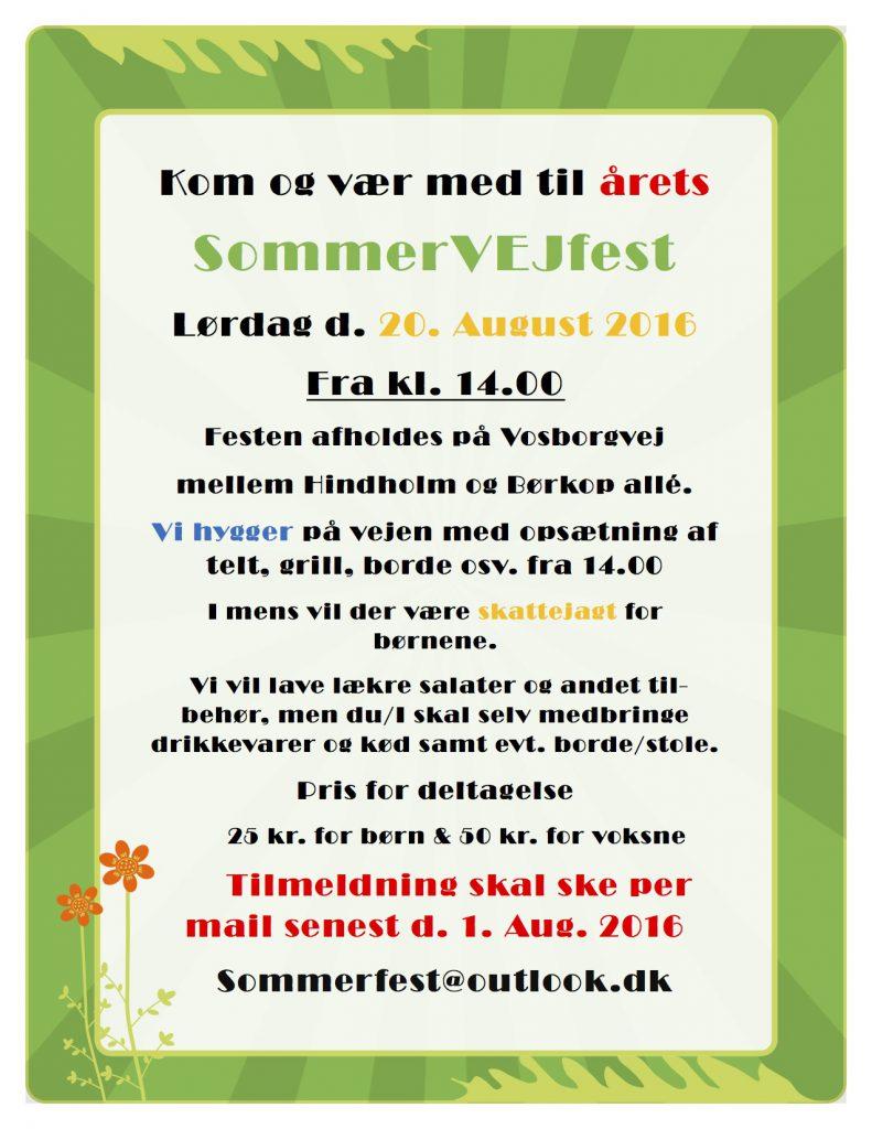 Sommerfestinvitation 2016